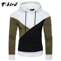 T Bird 2017 Hoodie Men Autumn Winter Stitching Casual Men S Hoodies Hip Hop Sweatshirt Male