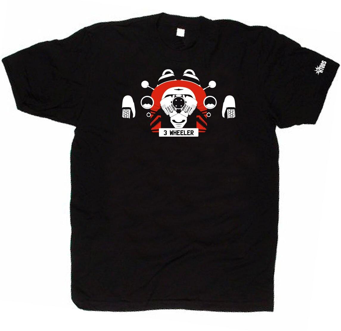 CUSTOM HTees T-shirt - MORGAN 3 WHEELER, Pick car colour & plate three wheels