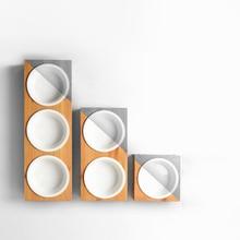Dog Food Bowls  Pet Supplies Placemat Bowl Dispenser Ceramics Universal Cat 50GP018
