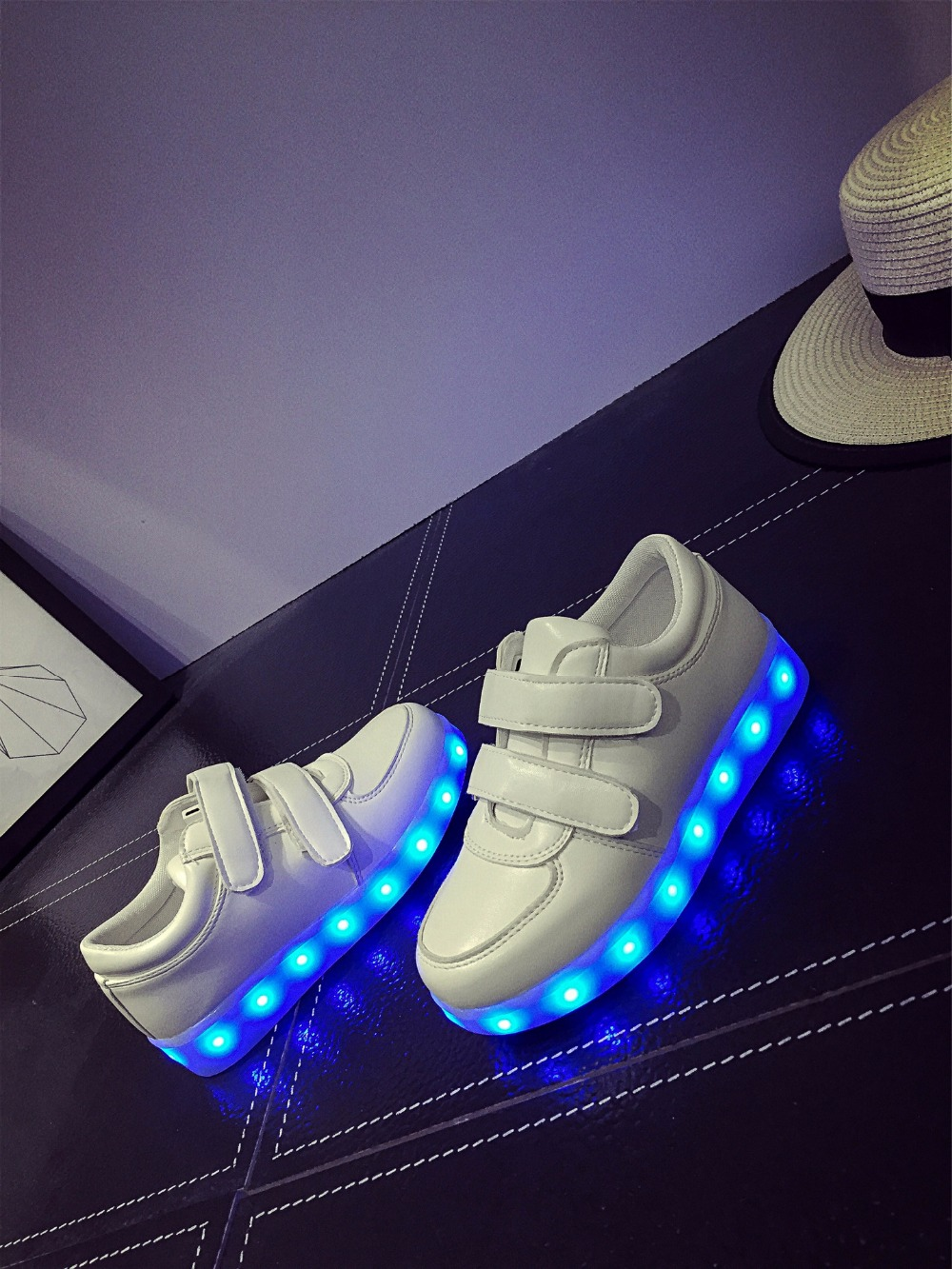 Led Sneakers Classic Strap Kids 7