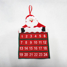 2017 Christmas Decorations for Home Calendar Santa Claus Calendar Advent Christmas Tree Ornament Hanging Banner for Home Wall(China)