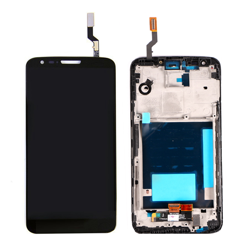 A+++ LCD For LG Optimus G2 D801 D803 D800 LCD Display + Touch Screen With Frame Digitizer Assembly Replacement