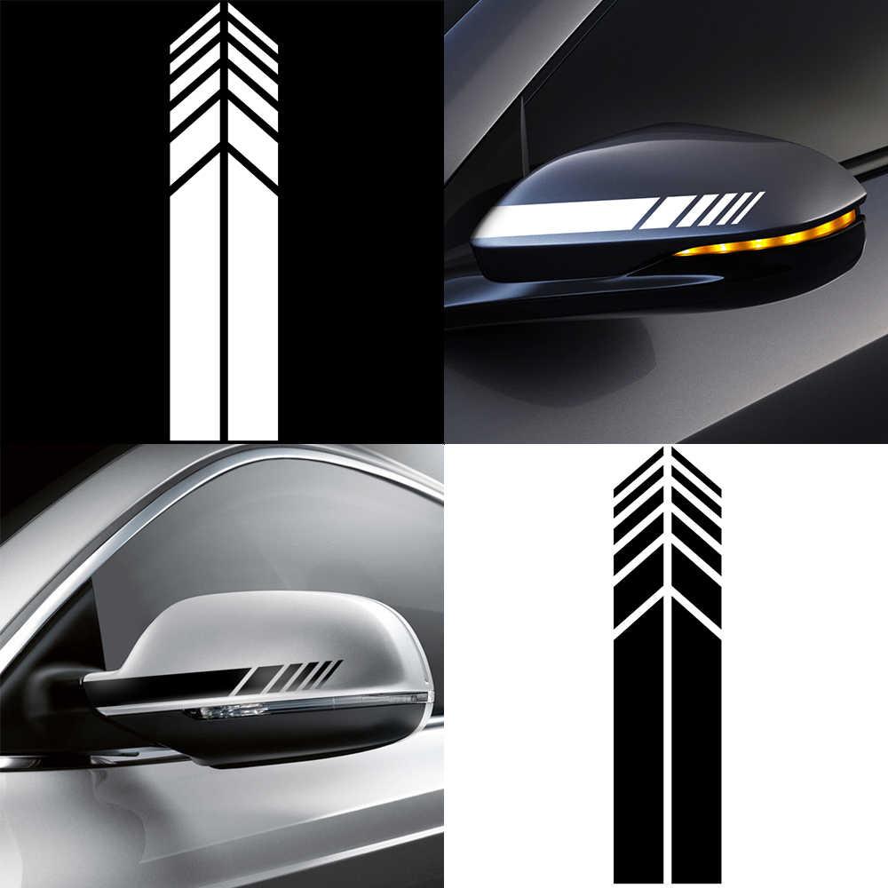 Adesivo auto Specchietto Retrovisore Lato Della Decalcomania Della Banda Per BMW E46 E60 Ford focus 2 Kuga Mazda 3 cx-5 VW Polo golf 4 5 6 Jetta Passat