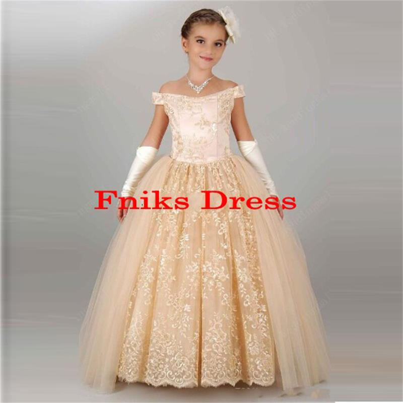 Online Get Cheap Champagne Color Flower Girl Dresses -Aliexpress ...