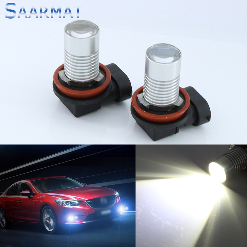 2x For Mazda 6 Atenza 2013-2014 H8 H11 CREE Chips 5W LED Car Fog Light Bulbs Front Lamps 12V