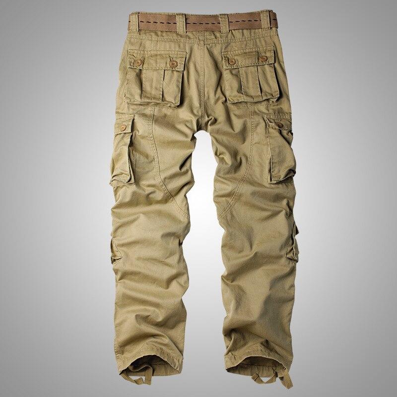 Pantalon Cargo militaire en coton pour hommes, 8 poches pantalon de Combat de travail décontracté homme armée militaire Camo Cargo pantalon grande taille 40 42 44 - 2