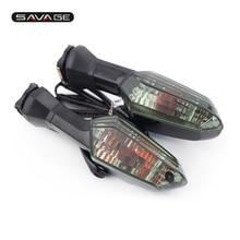 For KAWASAKI Z250 13-15, Z1000SX 11-14, ER-6N/F 09-14  Smoke Rear Turn Signal Indicator Light Blinker Lens