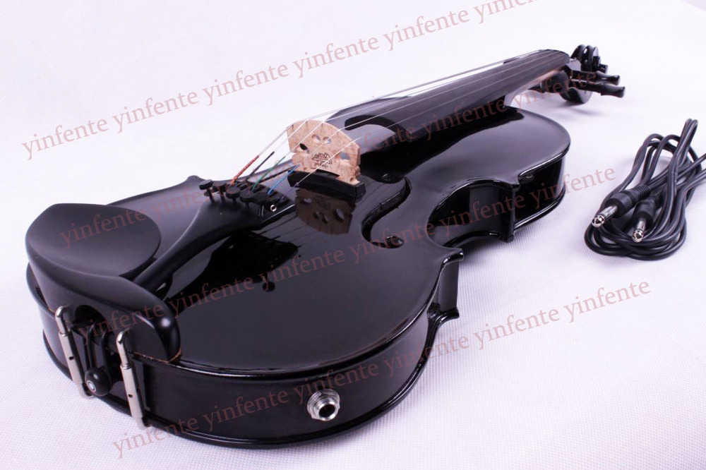 5 string Electric Acoustic Violin 4/4 Full Size Maple Spruce wood advance new 4 string 4 4 electric acoustic violin patent silent fine sound 1