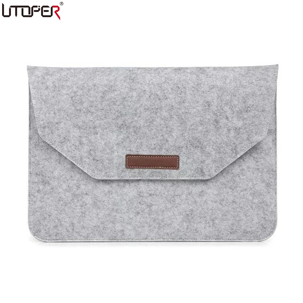 UTOPER Business Casual Handbag Bag For Apple MacBook Air / Pro /Retinal Fashion Slim Eco Felt Fabric Laptop Case Protective Case oatsbasf genuine leather laptop bag for macbook pro air 13 3 rose