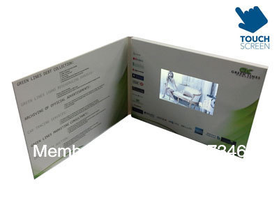 Online Shop 4.3 inch Touch Screen Video Greeting Card Mailer ...