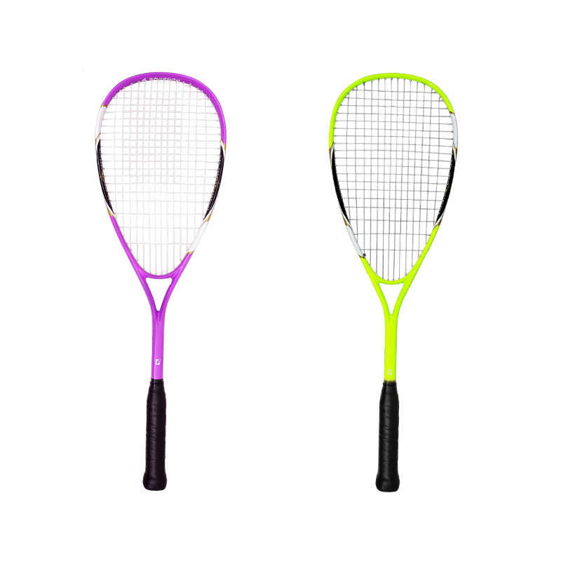 a piece Squash Racket Carbon Integrated type Beginner training Durable Skidproof Firm Durable Racket Men Women with bag