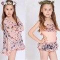 Los niños del traje de baño niñas bebek bikini traje de baño 2017 2 unids/set bikini niñas niños bebé del traje de baño de moda traje de baño