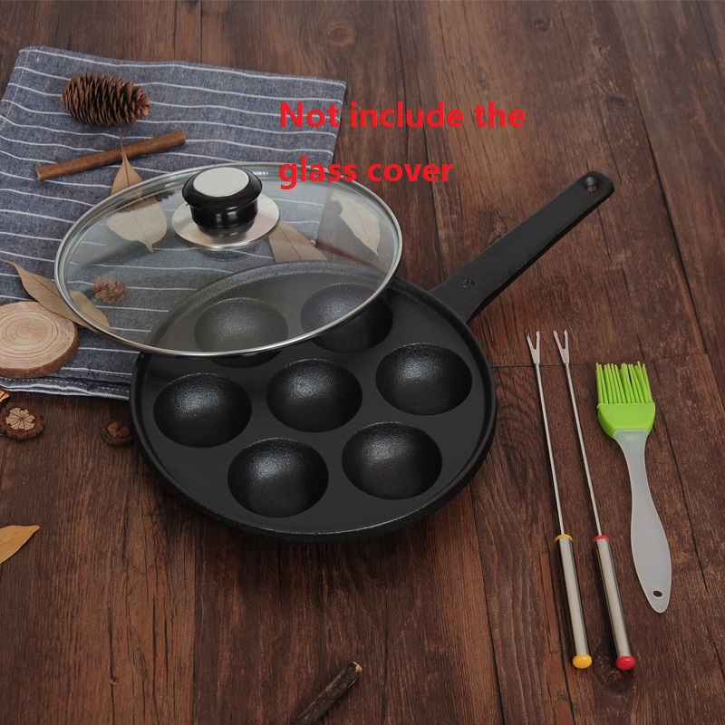 tako yaki plate cast iron household takoyaki pan-in Pans ...