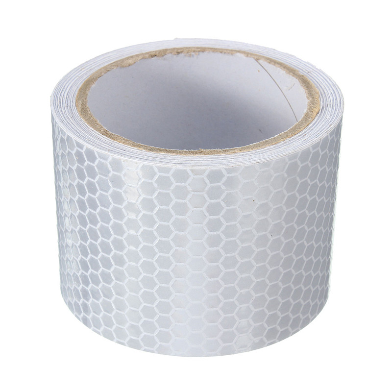 3 Meters Silver White Car Reflective Safety Warning Conspicuity Roll Tape Film Sticker For Tricycles New Arrival High Quality quality guarantee yellow matte vinyl wrap film foil car sticker with air bubble free fedex free shipping size 1 52 30m roll