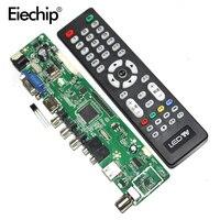 Free Shipping 12 V V56 Universal LCD TV Controller Driver Board PC VGA HDMI USB Interface