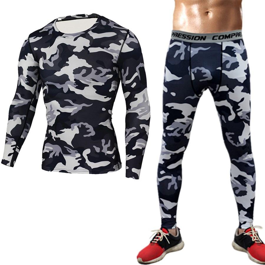 Camuflaje de marca Camisa de compresión Ropa de manga larga Camiseta - Ropa de hombre - foto 6