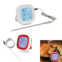 Digital Touchscreen Meat Thermometers with Timer for BBQ Oven Grilling Smokers Bread HG99