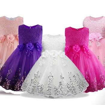 f0b0e63b4 Vestido de fiesta para niños bebé niña pétalos de flores Vestido de Niños  de niño Vestido elegante Vestido Infantil Formal ropa de bebé