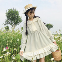 Kawaii Girl Daily Lolita Dress Japan Style Elegant Victorian Dress Fairy Retro Falbala Loli Gothic Lolita Op Sweet Lolita Cos