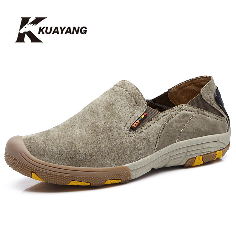2018 Real Medium (b, m) Pig Leather Fashion Style Män Skor Äkta Slip On Causalquality Outdoor Zapatos Hombre Freeshipping