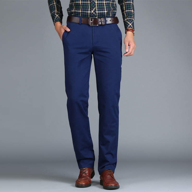 Mens Chinos High Quality Cotton Casual Pants  1