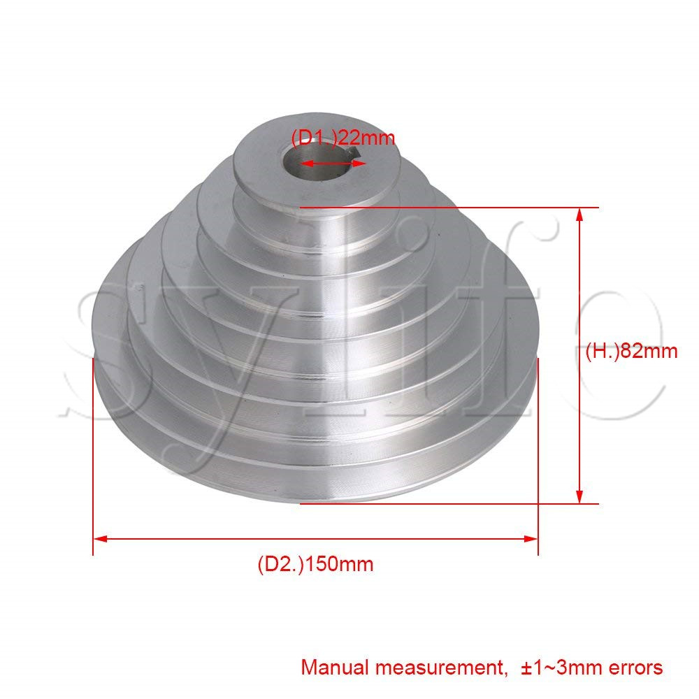 20mm Bore Outter Dia 54-150mm 5 Step A Type V-Belt Pagoda Pulley Belt