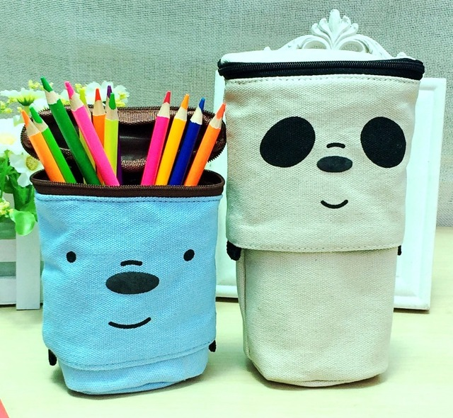 Cute Pencil Case Zipper Kawaii Pencil Box Trousse Scolaire Stylo Supplies School Student Stationery Gift For Kids Boys Girls by Arya Arte