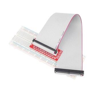 Raspberry Pi GPIO expansion DIY kit (GPIO cable + breadboard + GPIO T/1-adapter plate)