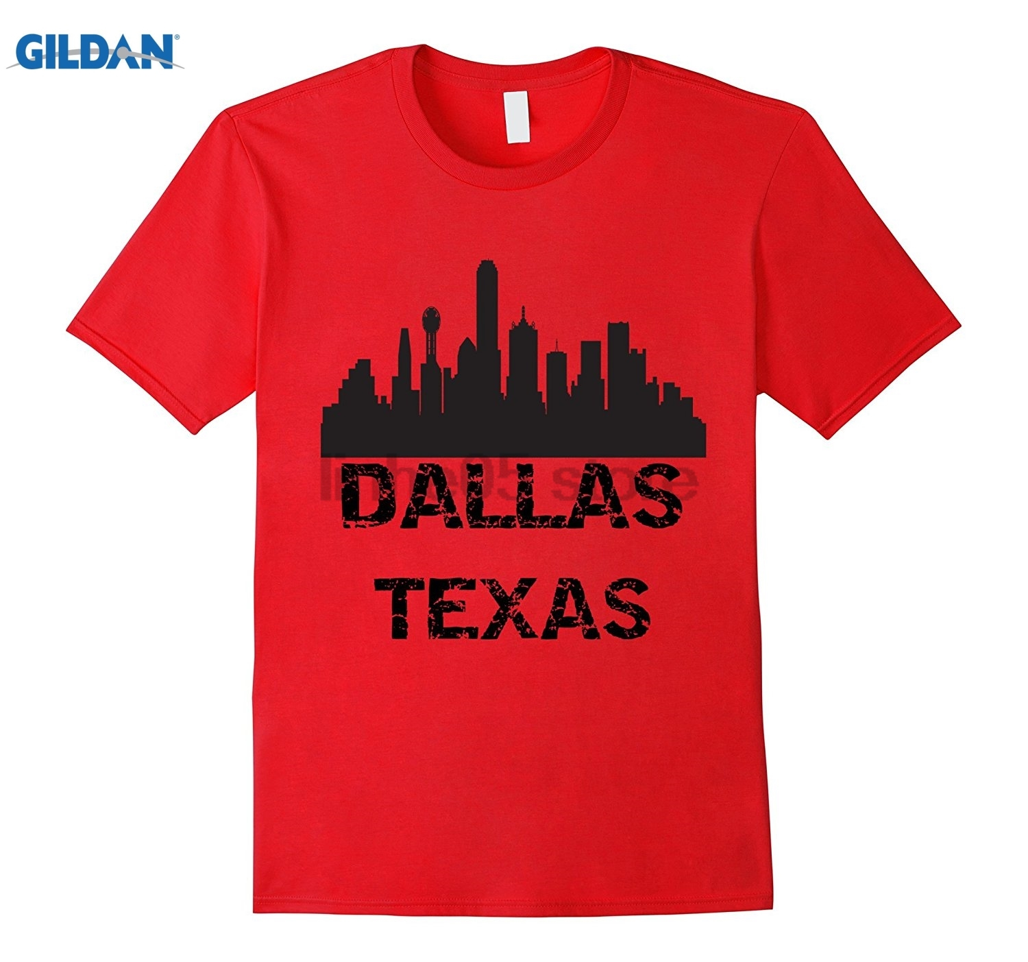 GILDAN Dallas Texas USA United States America City T-shirt Womens T-shirt