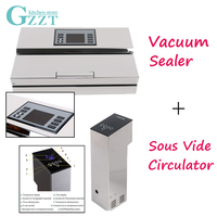 2pcs/set Vacuum Sealer + Sous Vide Cooker Circulator Commercial Household Vacuum Packing Machine And Immersion Cooking Machine
