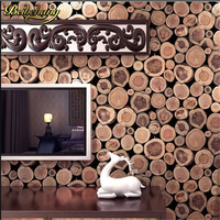 beibehang papel parede Luxury 3D Wood Print Wallpaper Roll Mural Wallpapers Fashion Wall Decals of Wall Paper Waterproof