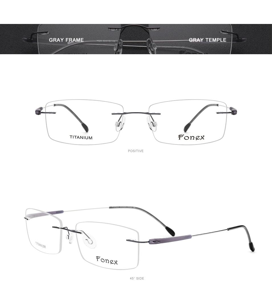 fb46c112ea B gafas de titanio puro marco hombres acetato 2018 nueva miopía cuadrada de alta  calidad gafas de prescripción óptica sin tornillos
