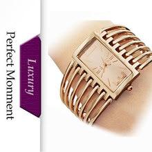 New 2016 Women Dress Watches Hollow Gold Steel Luxury Bracelet Fashion Watches Quartz Ladies Watches Free Ship Gift