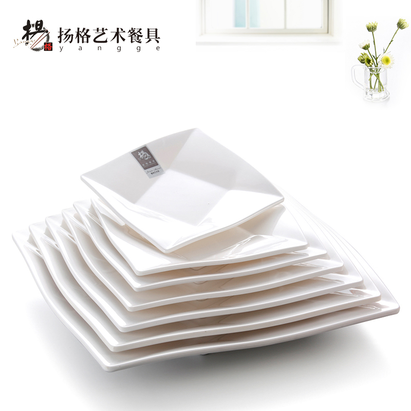 10INCH Wholesale Restaurant Reusable China Melamine Tableware Christmas Plastic White Square Dessert Fruit Salad Plates Dishes-in Disposable Plates from ...  sc 1 st  AliExpress.com & 10INCH Wholesale Restaurant Reusable China Melamine Tableware ...