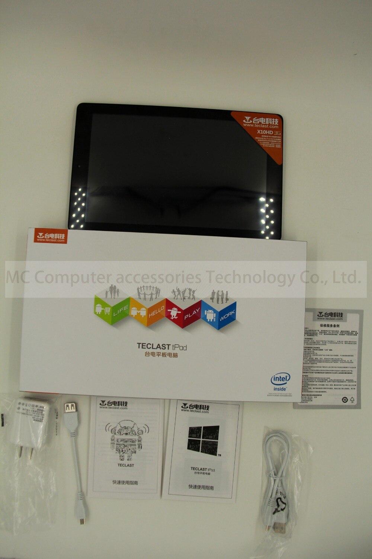 Newest10.1 Polegadas Teclast X10HD 3G Sistema Dual Z3736F 2.16 GHz Android4.42g + Windows8.1 Tablet PC 2560x1600 Ar Retina 2 GB DDR3L 64 GB
