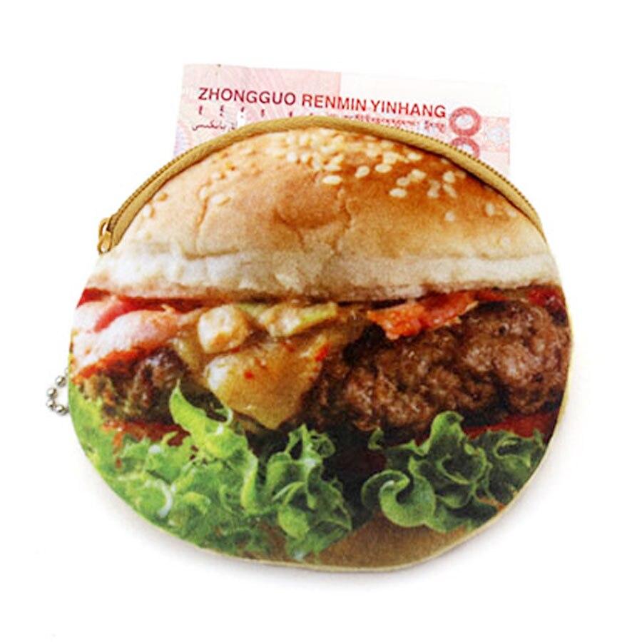 XYDYY Kawaii Söt Hamburger Stekt Ägg Kvinnor Barn Plysch Mynt - Plånböcker - Foto 5