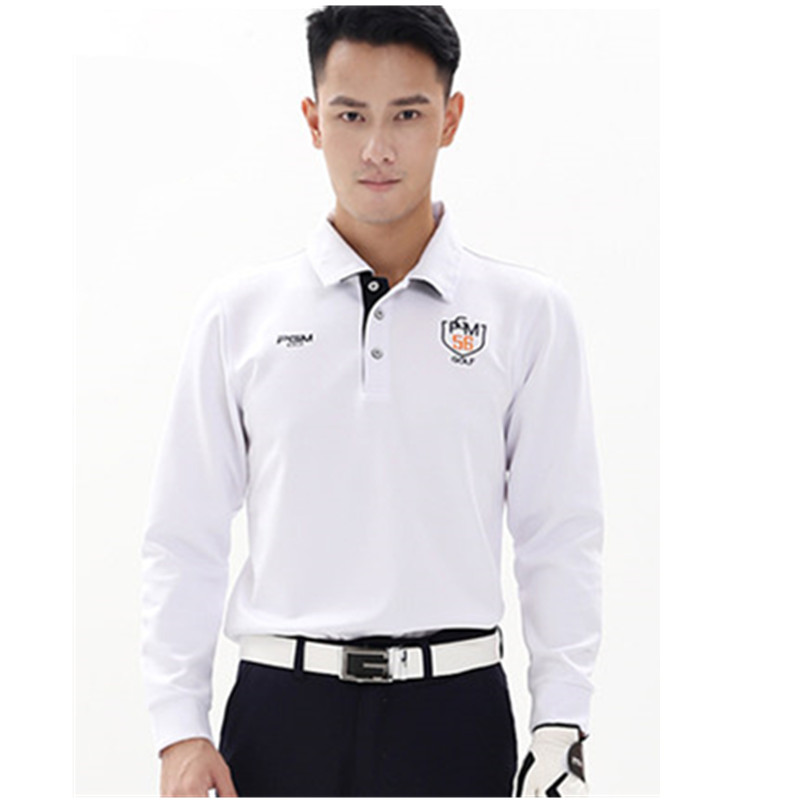 2018 Sale Poleras Polo Hombre Best Quality! Pgm New Polyester Stand Quick Dry Dark Full Golf Trainning T Shirts Polo For Men