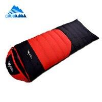 Cikrilan Adult 90 Duck Down Outdoor Sport Saco De Dormir Hiking Camping 320T Water Resistant Windproof