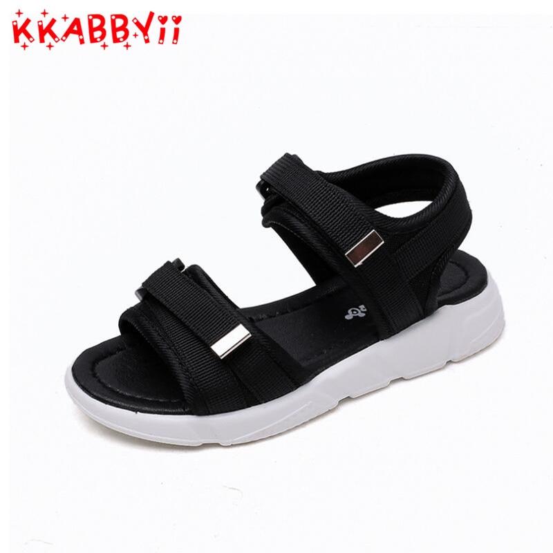 2018 Wholesale Boys Nubuck Leather Sandals Fashion Kids Summer Flats Single Shoes Children Antislip Sole Sandals