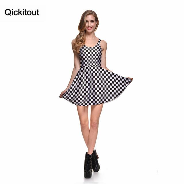 Primavera novedad ropa Sexy para mujer vestidos de dibujos animados para mujer vestido de patinadora a cuadros con pliegues Envío Directo S119-68