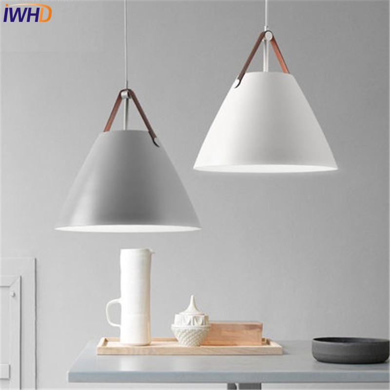 IWHD Nordic Simple Style Iron Droplight Modern LED Pendant Light Fixtures For Dining Room Bar Hanging Lamp Indoor Lighting nordic wrought iron simple modern pendant lamp with led bulb dinning room light cafe lamp e27 110v 220v free shipping