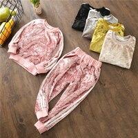 2018 Baby Boys Clothing Sets Kids Girls Tracksuits Sport Suit Fleece Jacket Spring Autumn Clothes Children