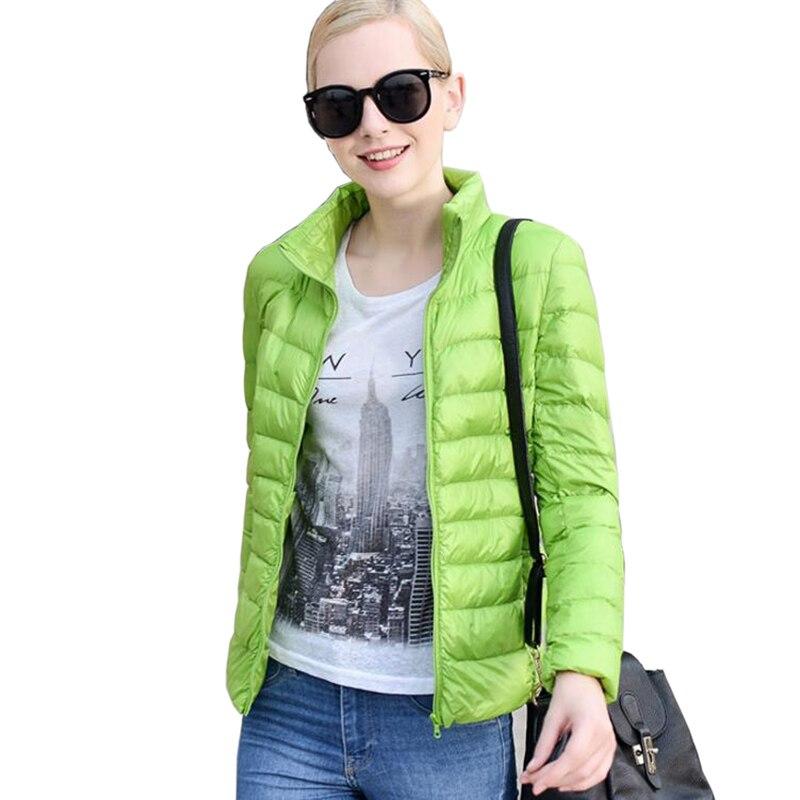 Women Ultra Light   Down   Jacket 90% Winter Duck   Down   Jackets Women Parka Zipper   Coats   Plus Size XXXL light green Duck   Down     Coats
