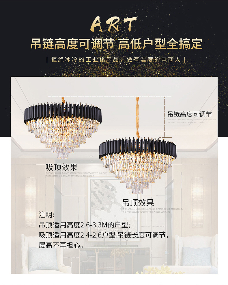 HTB1bw8aI9zqK1RjSZFHq6z3CpXan 2019 New Arrival Modern Crystal Pendant Lights 220V nordic light lamparas de techo colgante moderna for Living room parlor study