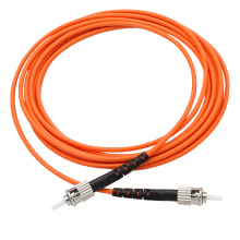 ST à ST Duplex Multimode 62.5/125 fibre cordon de raccordement câble de raccordement Orange