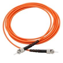ST dubleks Multimode 62.5/125 Fiber yama kablosu turuncu Jumper kurşun kablo