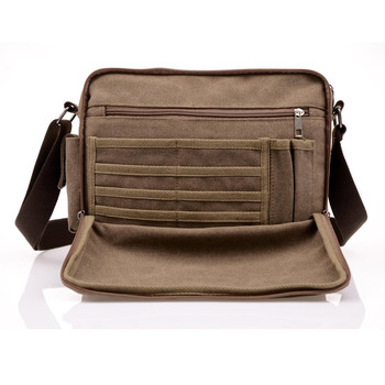 High Quality Multifunction Men Canvas Bag Casual Travel Bolsa Masculina Men's Crossbody Bag Men Messenger Bags 1