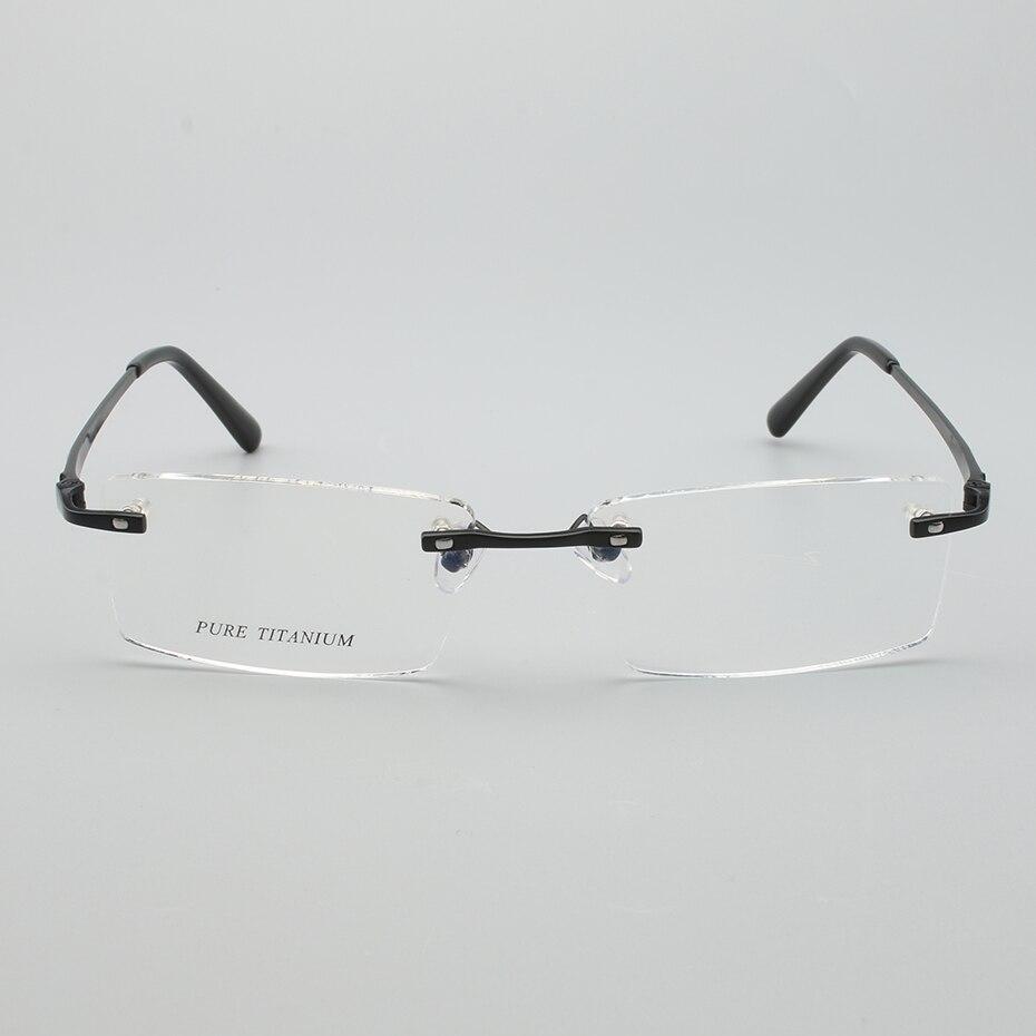 Black 6133 Männer silver golden Einschließlich Titanium Brillen Qualität Randlose Hohe Mode Rx Rezept Opeco Spektakel Linsen Reinem Rahmen gunmetal IqS6wUnZ