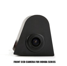 CCD Car HD Front View Camera for Honda Civic Accord Odyssey CRV Fit City XR-V Forward Car Logo Camera  Waterproof High-Quality