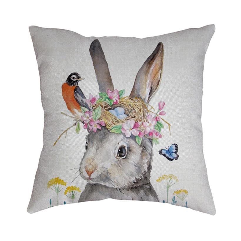 2018 New Pillow Case 45*45 Easter Sofa Bed Home Decoration Festival Pillow Case Cushion Cover NEW B M8